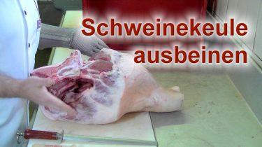 Schweinekeule ausbeinen